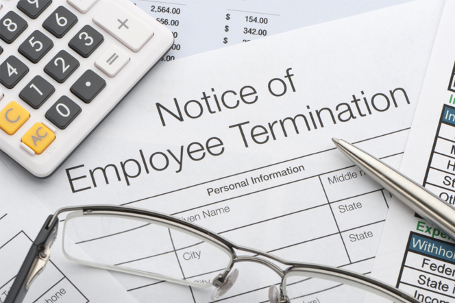 Employment Termination Notice Including Notice Requiring Efforts to Mitigate Income Losses